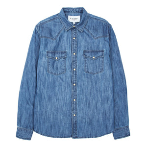 Corridor NYC Denim Washed Western Shirt - Triple Stitch