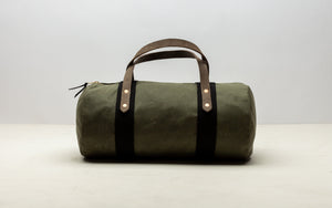 Joshu + Vela Small Duffle in Olive Wax