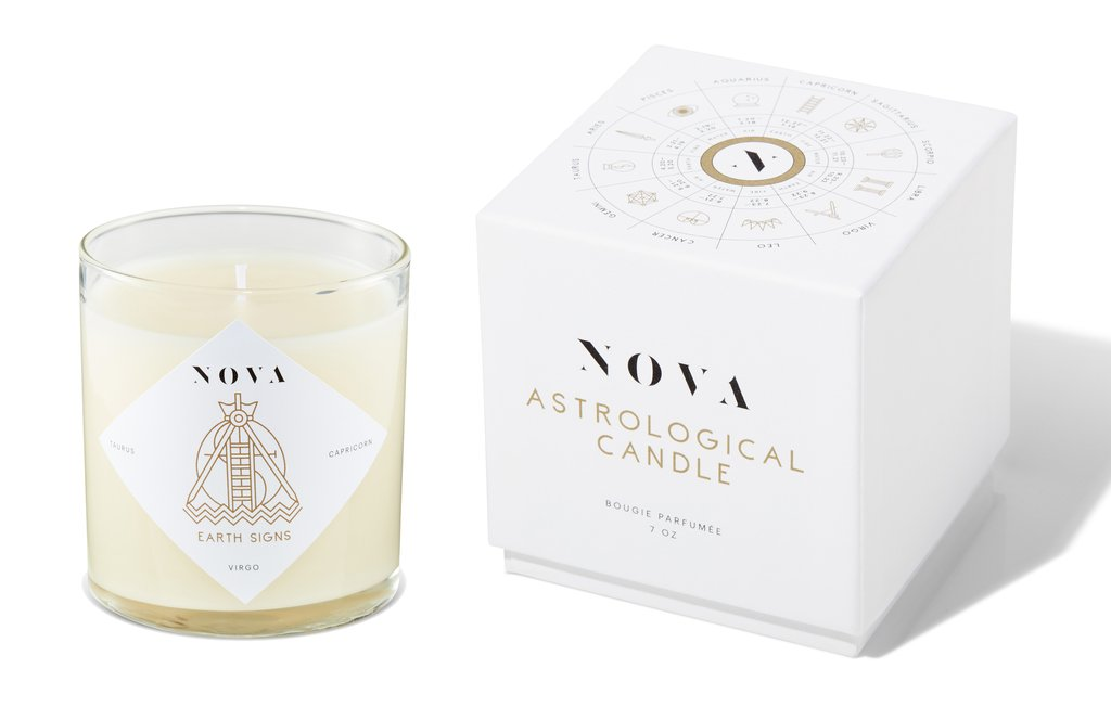 Nova Astrological Candle Earth Signs