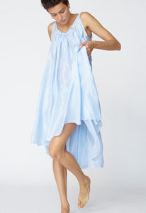 Loup Charmant Gather Shortie Dress in Baby Blue