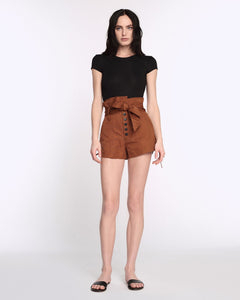 Marissa Webb Gia Faille Shorts in Copper