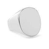 Harvey Giant Signet Ring Silver