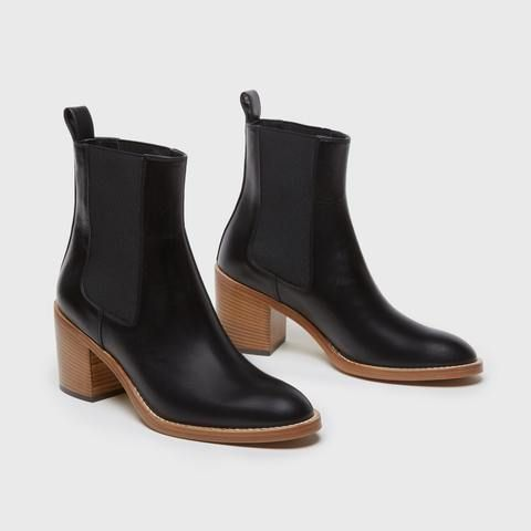 Jenni Kayne Heeled Chelsea Boot Black