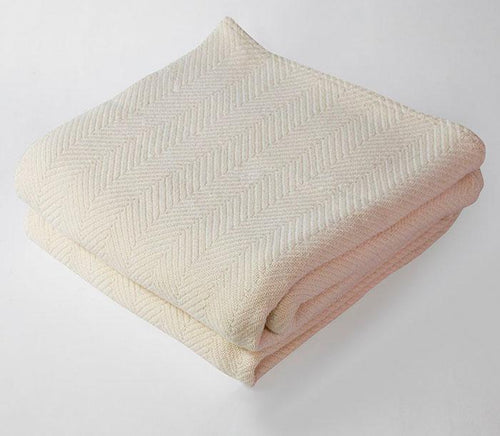 Harlow Henry Herringbone Blanket in Natural