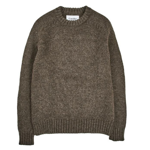 Corridor NYC Organic Highland Wool Crewneck in Cedar