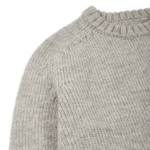 Corridor NYC Organic Highland Wool Crewneck in Light Grey