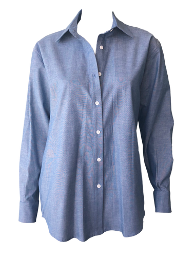 Emerson Fry Button Front Shirt in Blue Chambray