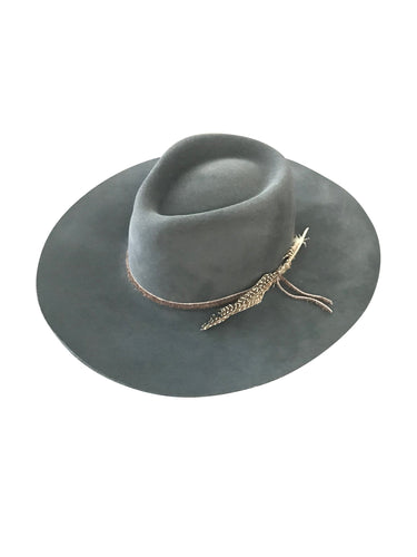 Lovely Bird Montana Fedora in Washed Black