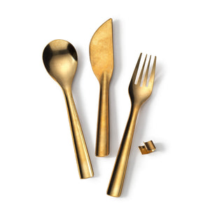 Brass Flatware Set