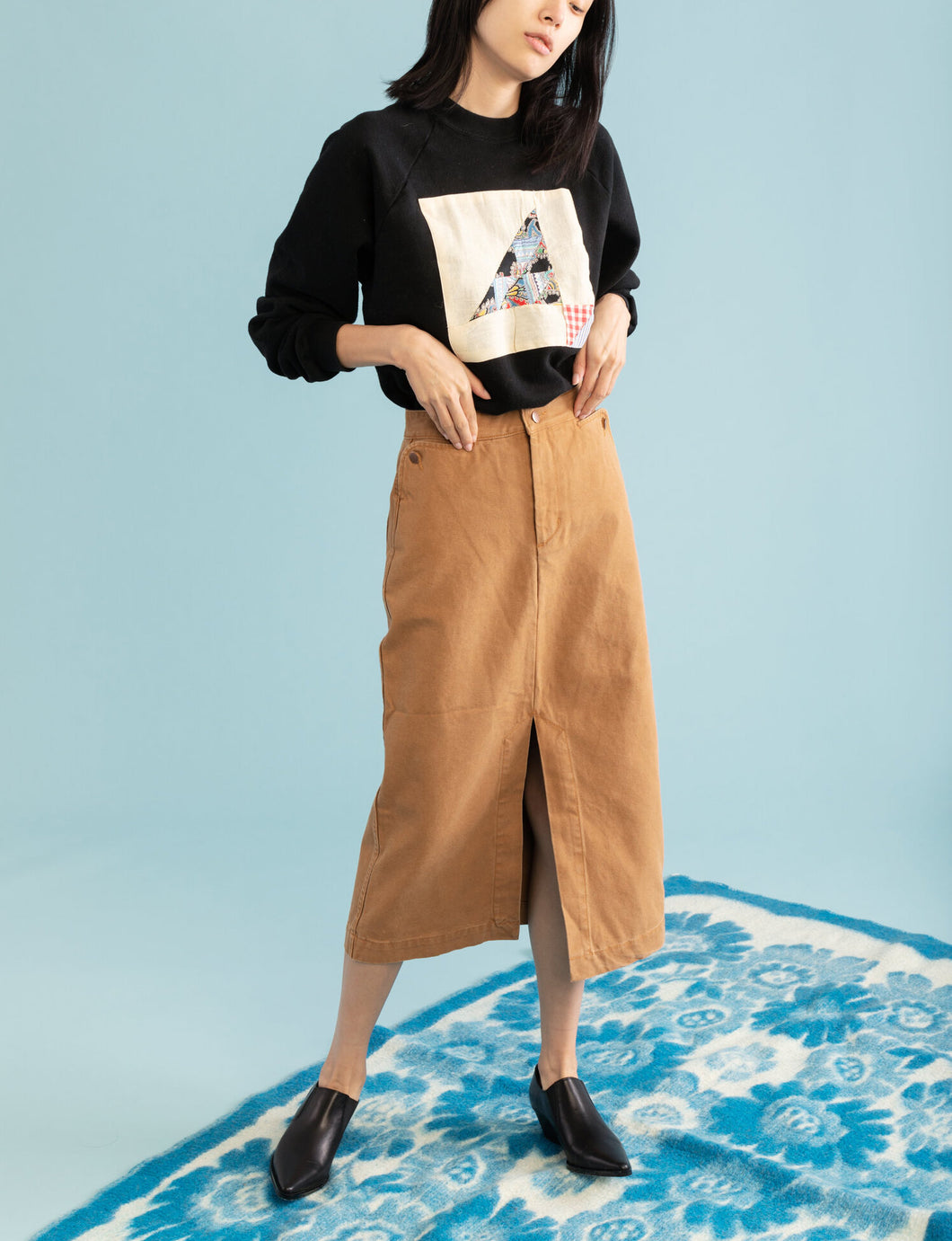 CARLEEN Long Lindsay Skirt in Wheat