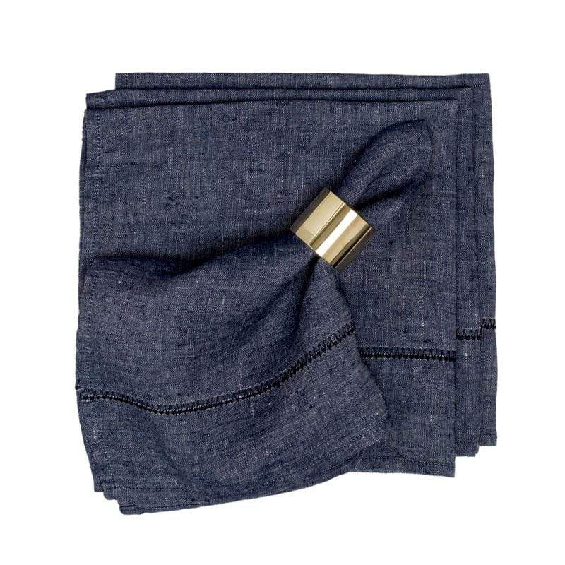 Linen Napkin Set of 4 in Denim