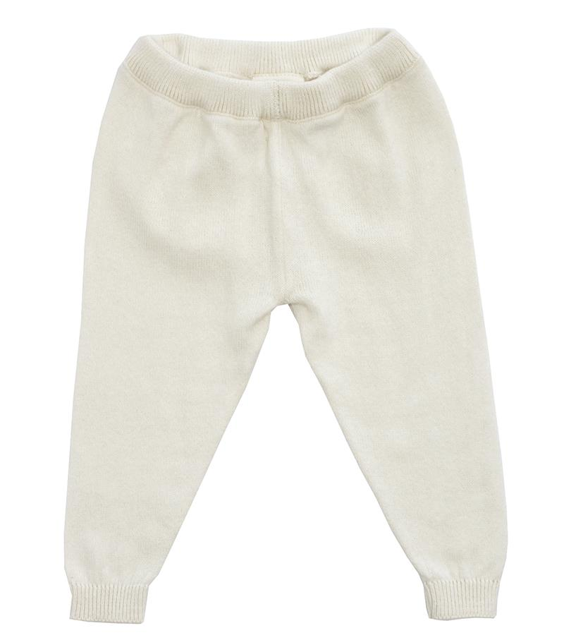 natural organic cotton knit baby leggings