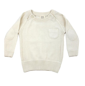 Organic Cotton Baby Raglan Pullover Sweater