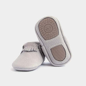 mini sole baby moccasin in salt flats