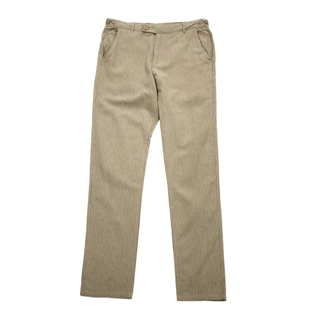 Corridor NYC Natural Stripe Linen Trousers