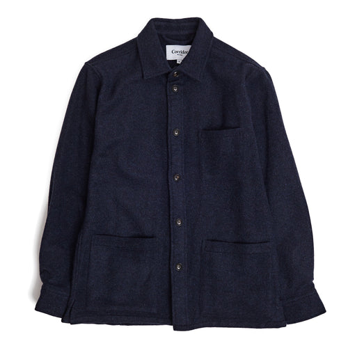 Corridor NYC Lambswool 18 oz Overshirt in Navy
