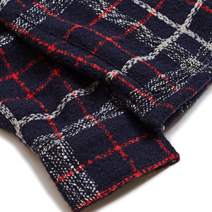 Corridor NYC Navy Red Plaid Wool Overshirt