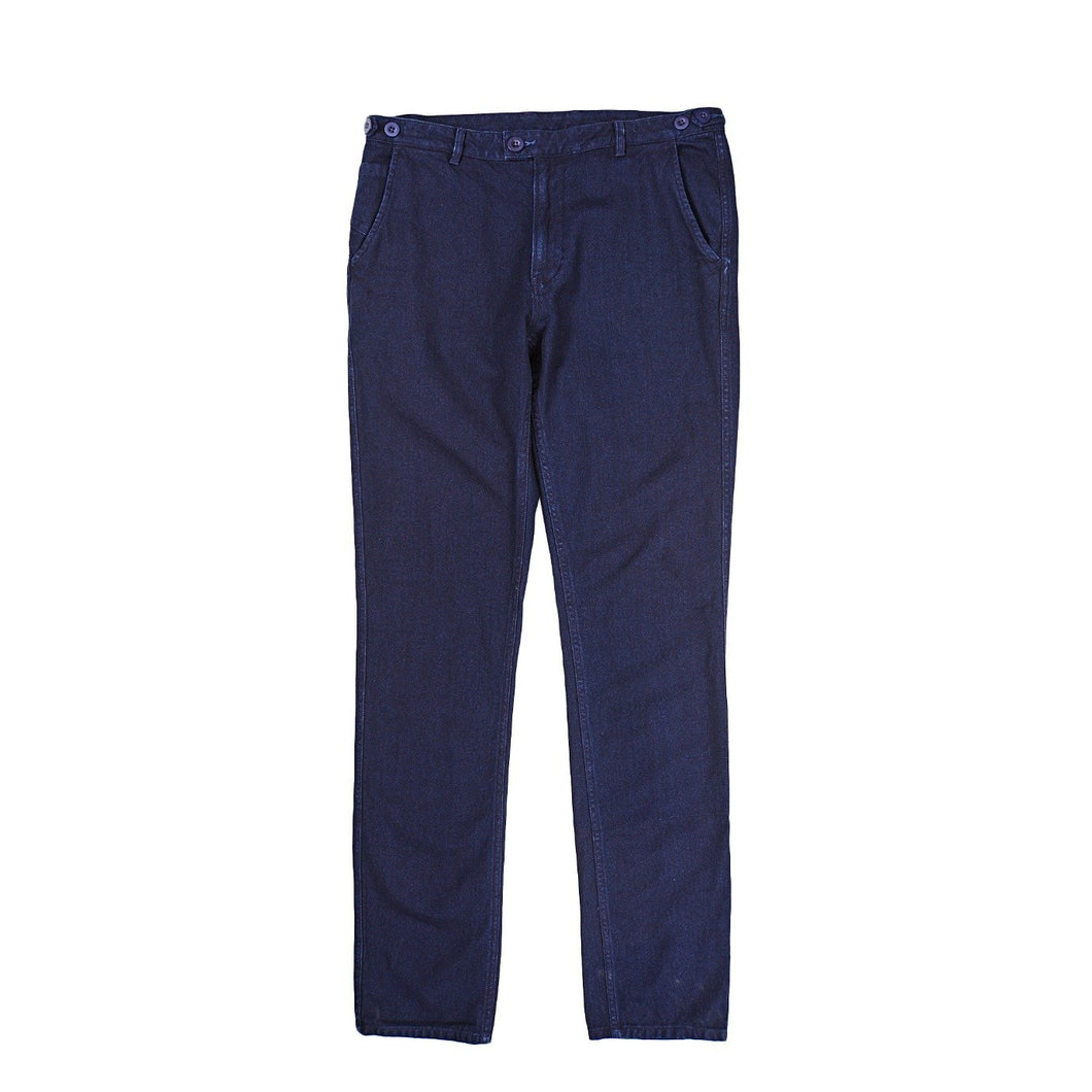 Corridor NYC Rinsed Indigo Herringbone Slim Pants