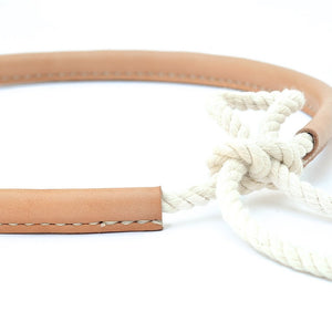 Made Solid Rope Belt in Natural