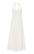 Marissa Webb Seraphina Linen Dress in White Pinstripe
