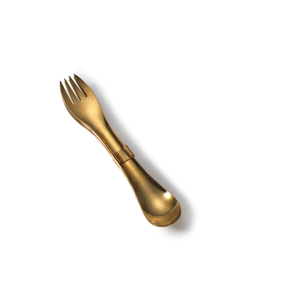 Brass Spoon and Fork Set