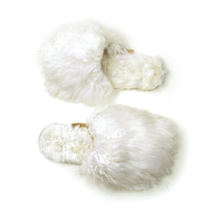 Alpaca Slipper in White