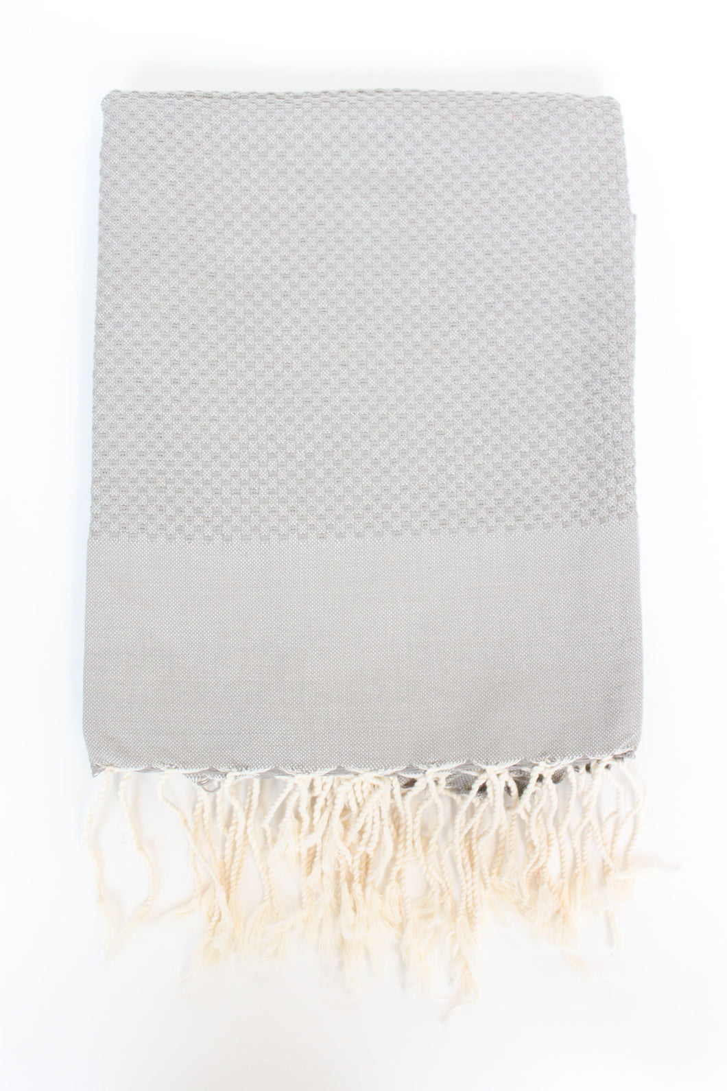 Turkish Towel Honeycomb Stitch in Light Grey