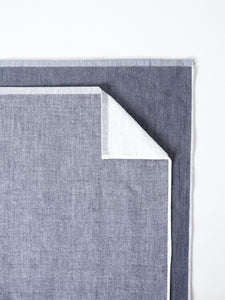 Japanese Two-Tone Chambray Towel in Dark Grey