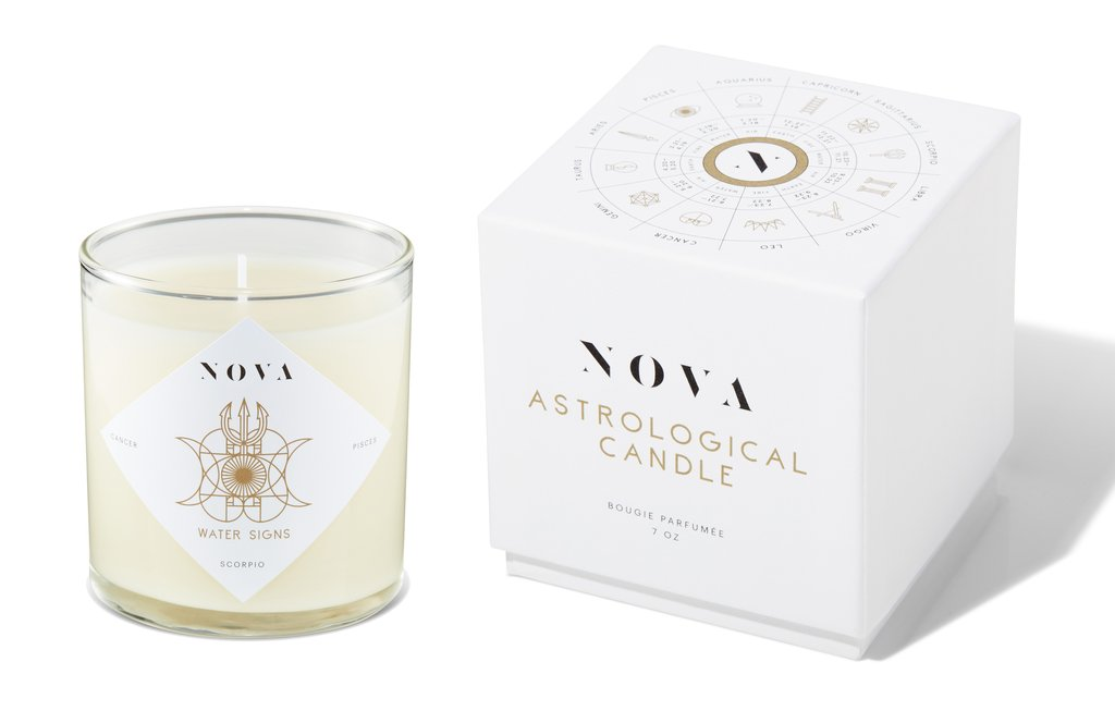 Nova Astrological Candle Water Signs
