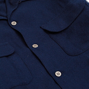Corridor NYC Navy Worsted Wool Work Shirt