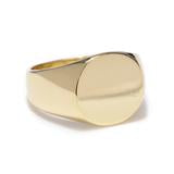 Classic Signet Ring Polished Brass