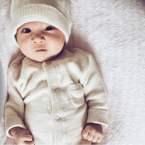 natural organic cotton baby coverall