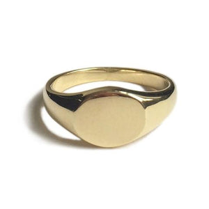 Arthur Mini Signet Ring Brass