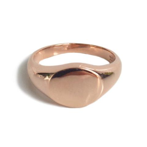 Mini Signet Ring Rose Gold