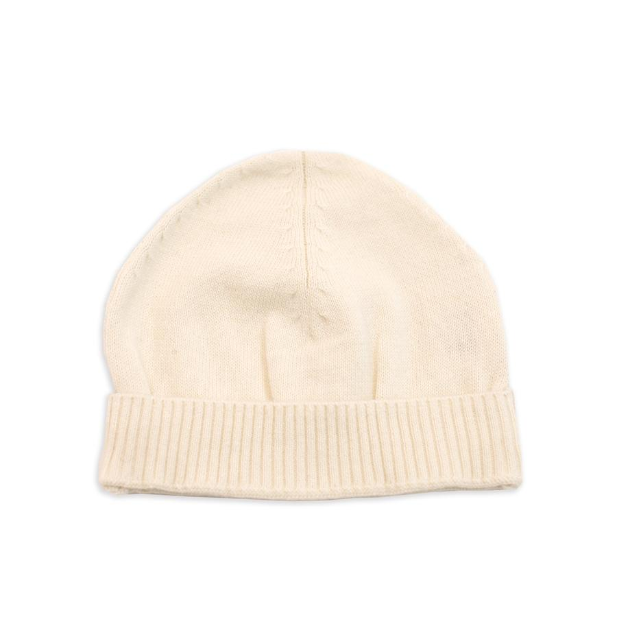 natural organic cotton knit baby hat