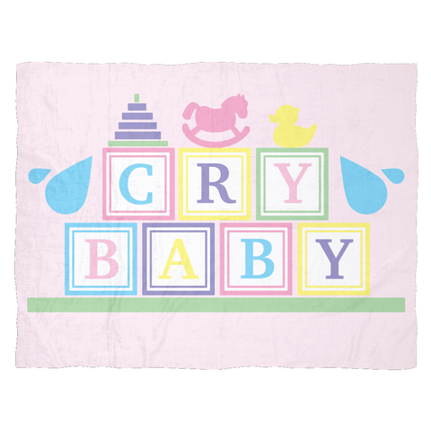 Cry Baby Fleece Blanket