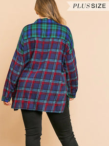 PLUS Pretty in Plaid Top