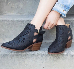 Matte Black Molly Booties