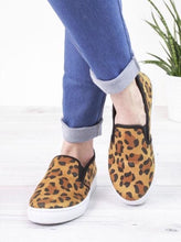 Leopard Canvas Slip-On Shoes