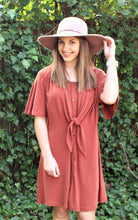 Dusty Rose Button Down Dress