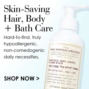 Hypoallergenic hair, body + bath