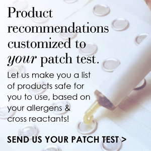 Allergen patch test results