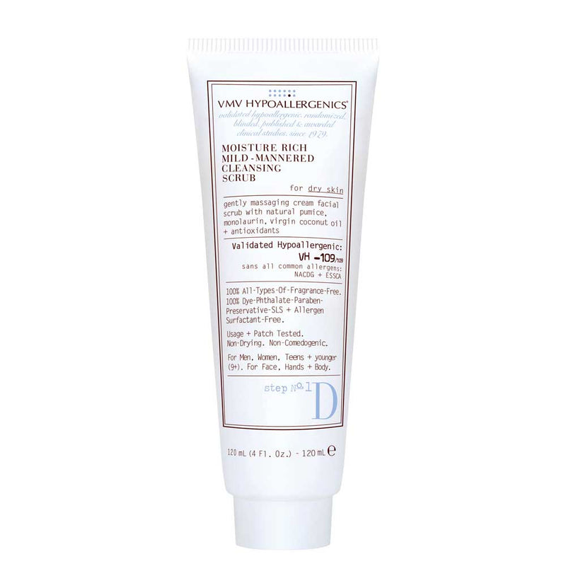 Moisture Rich Mild-Mannered Cleansing Scrub for Dry Skin