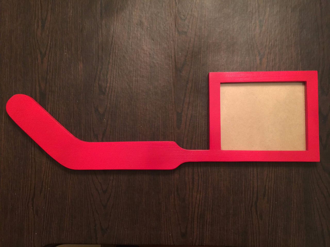 Hockey Night Goalie Stick Picture Frame