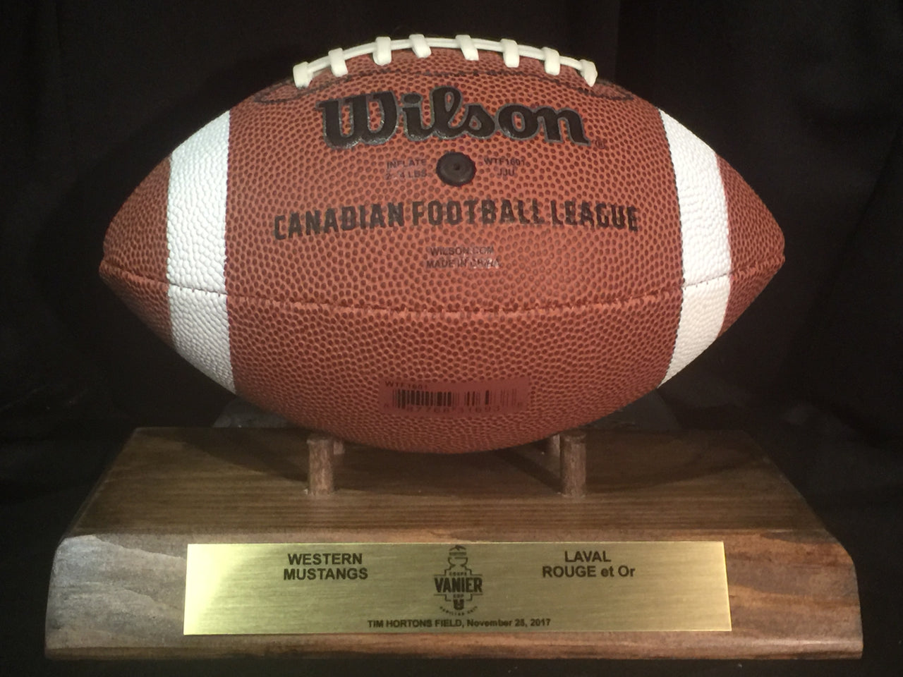 Vanier Cup 2017 MINI Football Holder
