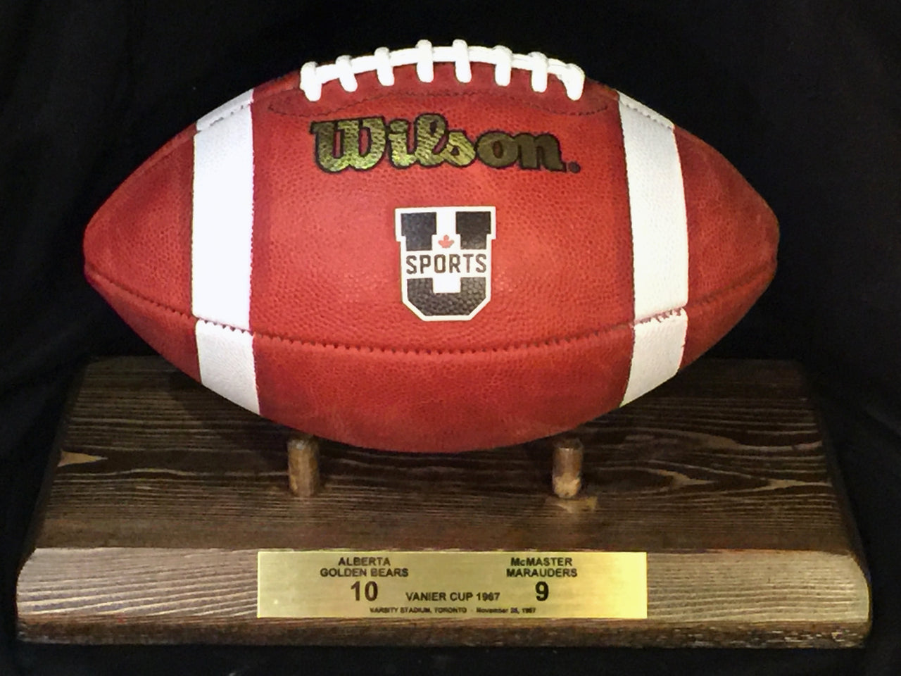 Vanier Cup ALUMNI Official Game Ball and Football Holder