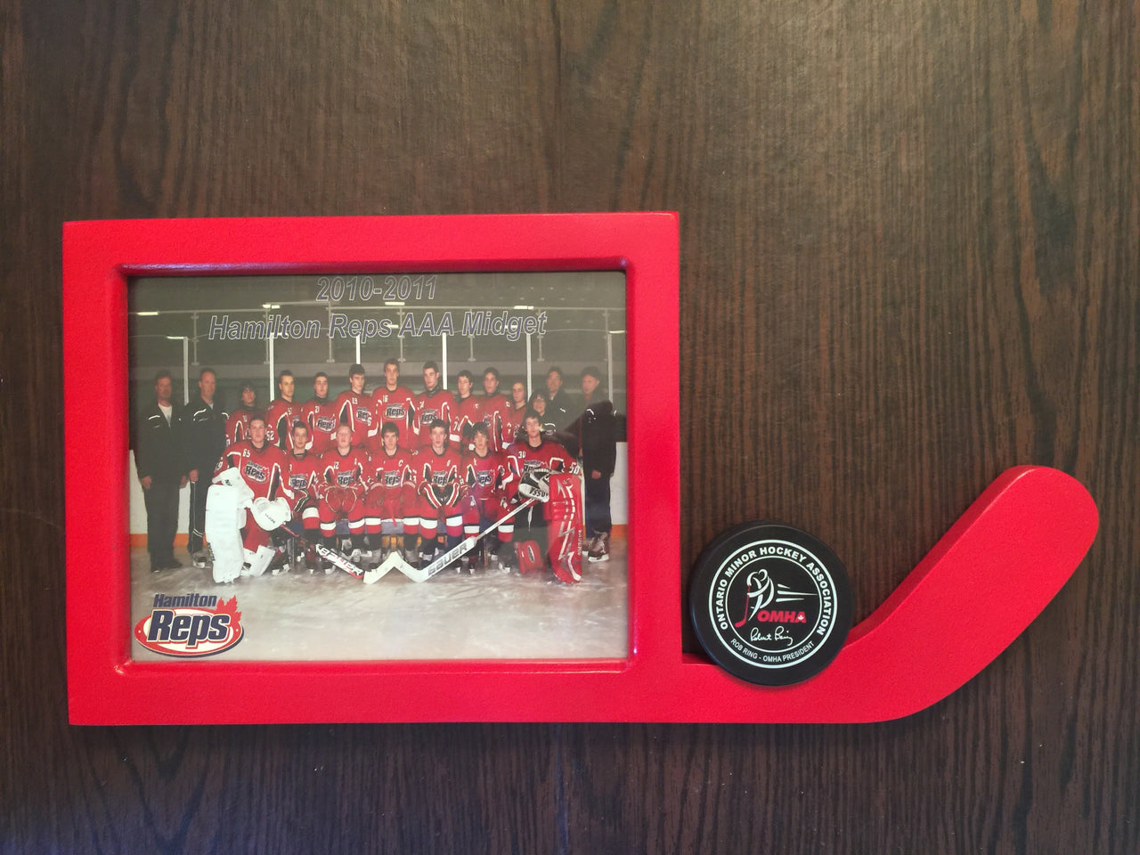 Hockey Night Picture Frame with Puck