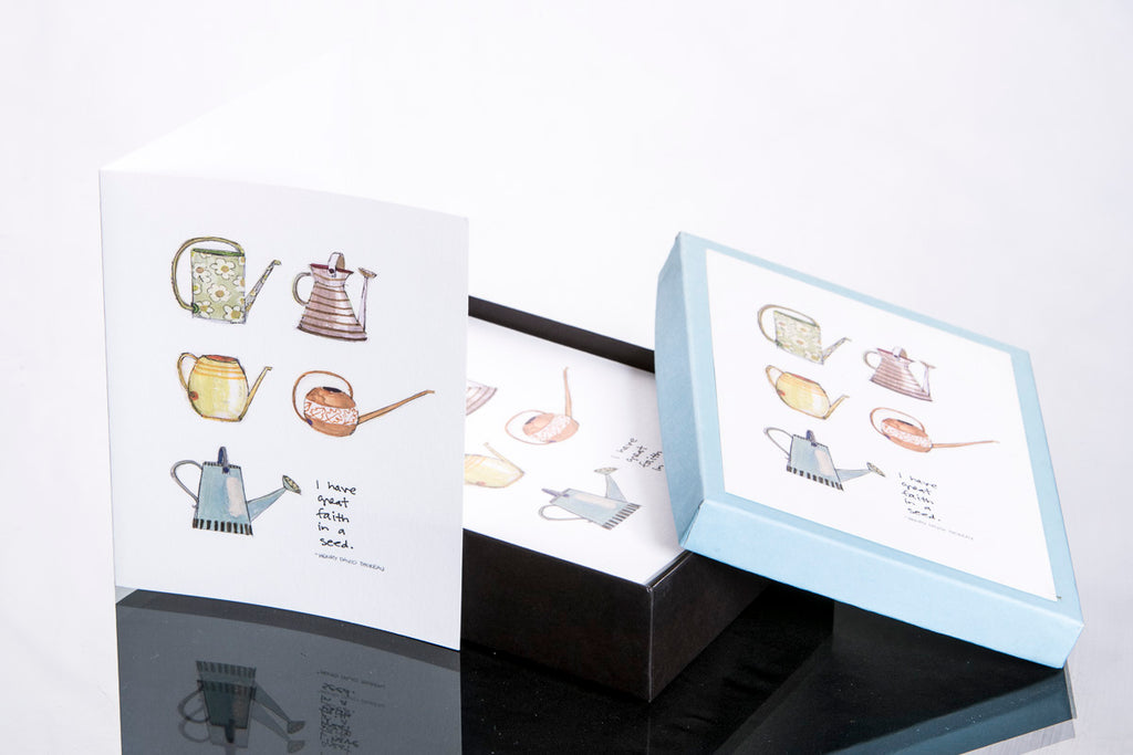 Note Cards - Boxed | Watering Cans