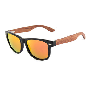 Daly Collection Rosewood Sunglasses with Red Mirror Polarized Lens