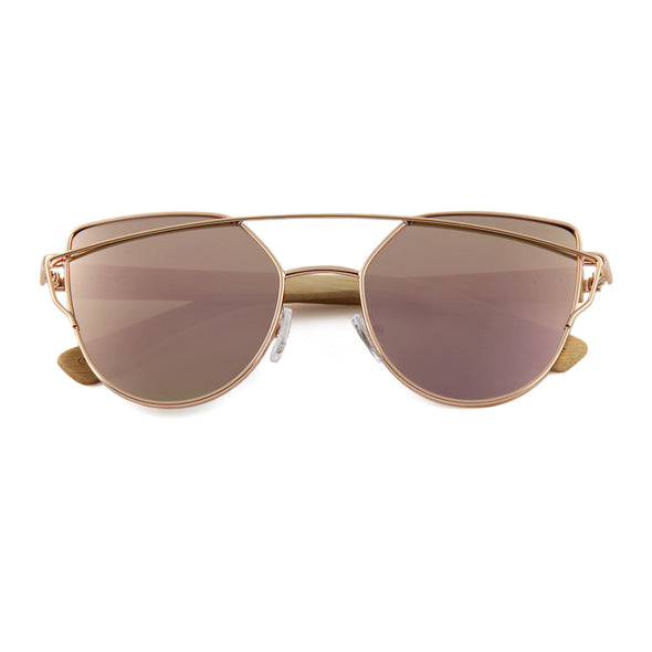 Bella (Rose Gold) Bamboo Temples